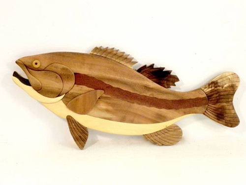 Largemouth Bass Wooden Wall Hanging