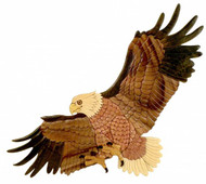 Bald Eagle Wooden Wall Hanging
