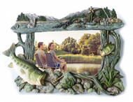 Sculpted Bass Fishing 4x6 Picture Frame
