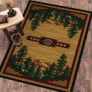 Autumn Mountains 4' by 5' Rug