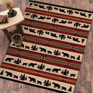 Bear and Cub Adventure 4' by 5' Rug
