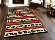 Bear and Cub Adventure 5' by 8' Rug