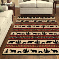 Bear and Cub Adventure 8' by 10' Rug
