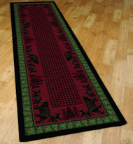Bear Family and Pines 2' by 8' Rug