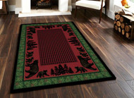 Bear Family and Pines 5' by 8' Rug