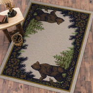 Twin Brown Bears 4' by 5' Rug