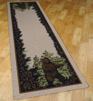 Twin Brown Bears 2' by 8' Rug