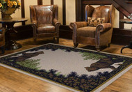 Twin Brown Bears 8' by 10' Rug