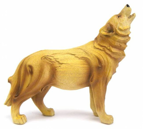 Woodlike 6 Quot Howling Wolf Sculpture