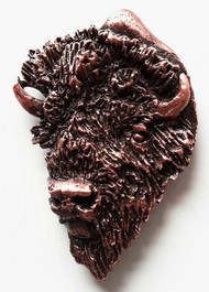 American Bison Bust - Large Copper Lapel Pin