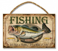 "Fishing - It's Not Just a Hobby 7"" x 10.5"" Sign"