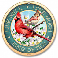 "Live Well - Love Much - Sing Often 10"" Round Sign"