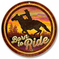 """Born to Ride 10"""" Round Sign"""
