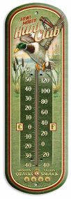 "Fowl Mouth Hunt Club Vintage Ad Large 17"" Tin Thermometer"