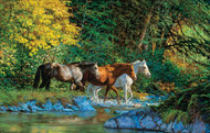 """Bear Creek Crossing"" 1000 Piece Horse Puzzle"