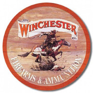 Round Winchester Tin Sign