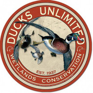 Ducks Unlimited Round Tin Sign