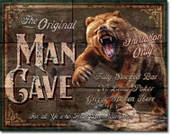 The Orignial Man Cave Tin Sign