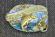 I'd Rather be Fishing Trout Belt Buckle