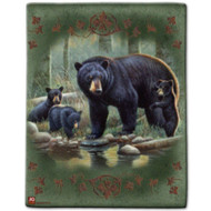 """Bear Family"" Luxury Queen Heavy Plush Blanket"