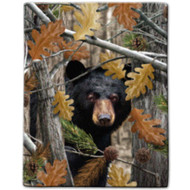 """Bear Camo"" Sherpa Lined Borrego Fleece Throw"