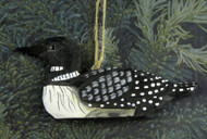 Hand-Carved Wooden Loon Ornament
