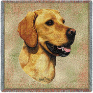 """Golden Retriever Bust"" Woven Blanket"