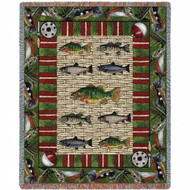 """Gone Fishing"" Woven Blanket"