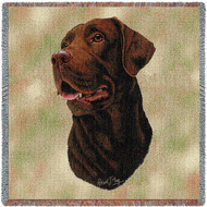 """""""Chocolate Lab"""" Woven Blanket"""