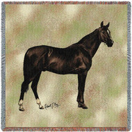 """Anglo Arabian Horse"" Woven Blanket"