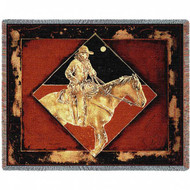 """Late Night Express Western"" Woven Blanket"