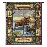 Moose Lodge Wall Tapestry