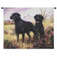 Black Labs Wall Tapestry