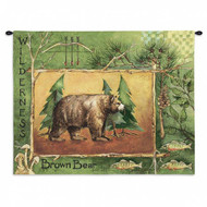 Brown Bear Wall Tapestry