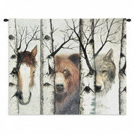 Wildlife Trio Wall Tapestry