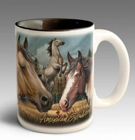 American Mustang Collage Series 15oz Stoneware Coffee Mug