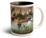 Mallard Duck Collage Series 15oz Stoneware Coffee Mug