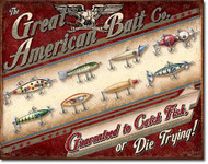 Great American Bait Co Tin Sign