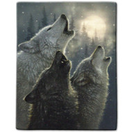 """In Harmony Wolves"" Luxury Queen Heavy Plush Blanket"
