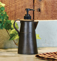 Antique coffee pot soap dispenser