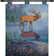 Elk Reflections Woven Wall Tapestry