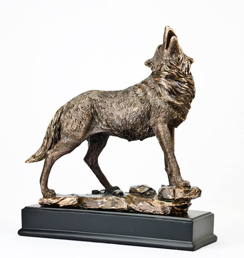 Gray Wolf Bronze Sculpture