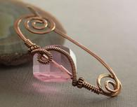 Rose Square Crystal Brass Shawl Pin