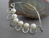 Fresh Water Pearl  Arch Shawl Pin