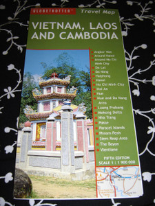 Vietnam, Laos And Cambodia Travel Map / English Road Map / 1: 1,900, 000 / Re...