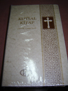 Turkish Bible White with Cross / Kutsal Kitap (Tevrat, Zebur, Incil) / Large ...