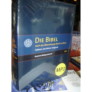 German MP3 Audio BIBLE on 5 MP3-CDs / Die Bibel nach der Ubersezung Martin Luthers 1