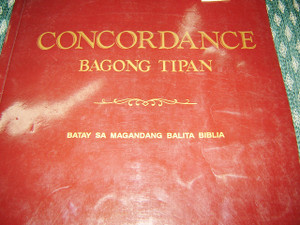 Tagalog Bible Concordance of the New Testament / Bagong Tipan