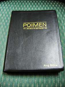 A Bible for Ministers in Tagalog / Large Leather Study Bible with Golden Edges / Poimen Ang Biblia Ng Mga Pastor KJV OLD TAGALOG TEXT