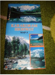 Karakoram Highway Map-3 / This is a well researched MAP with information on: Geography, History, Culture and Trekking Routes